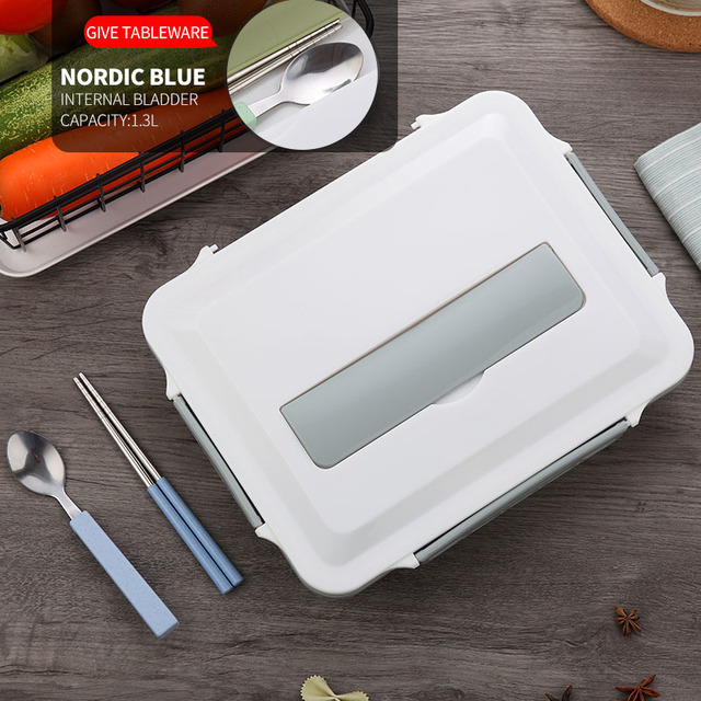 Blue Cheap bento boxes stainless steel 5c6479e2ed735