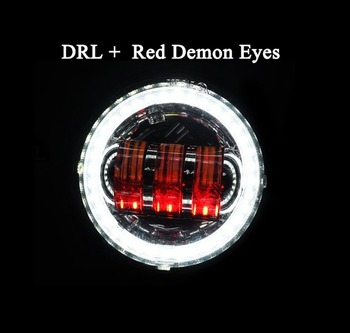 Marloo Led ערפל אור 4 1/2 4.5 אינץ לבן DRL אמבר הפעל אות Halo מנורת עזר לאופנועים