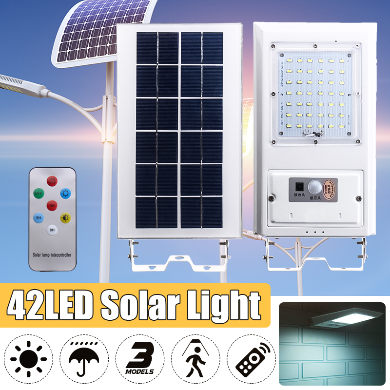 3.7V 20W Human Body Induction Solar Lamp Wall Lamp Outdoor Waterproof Floodlight Motion Sensor With Remote Control