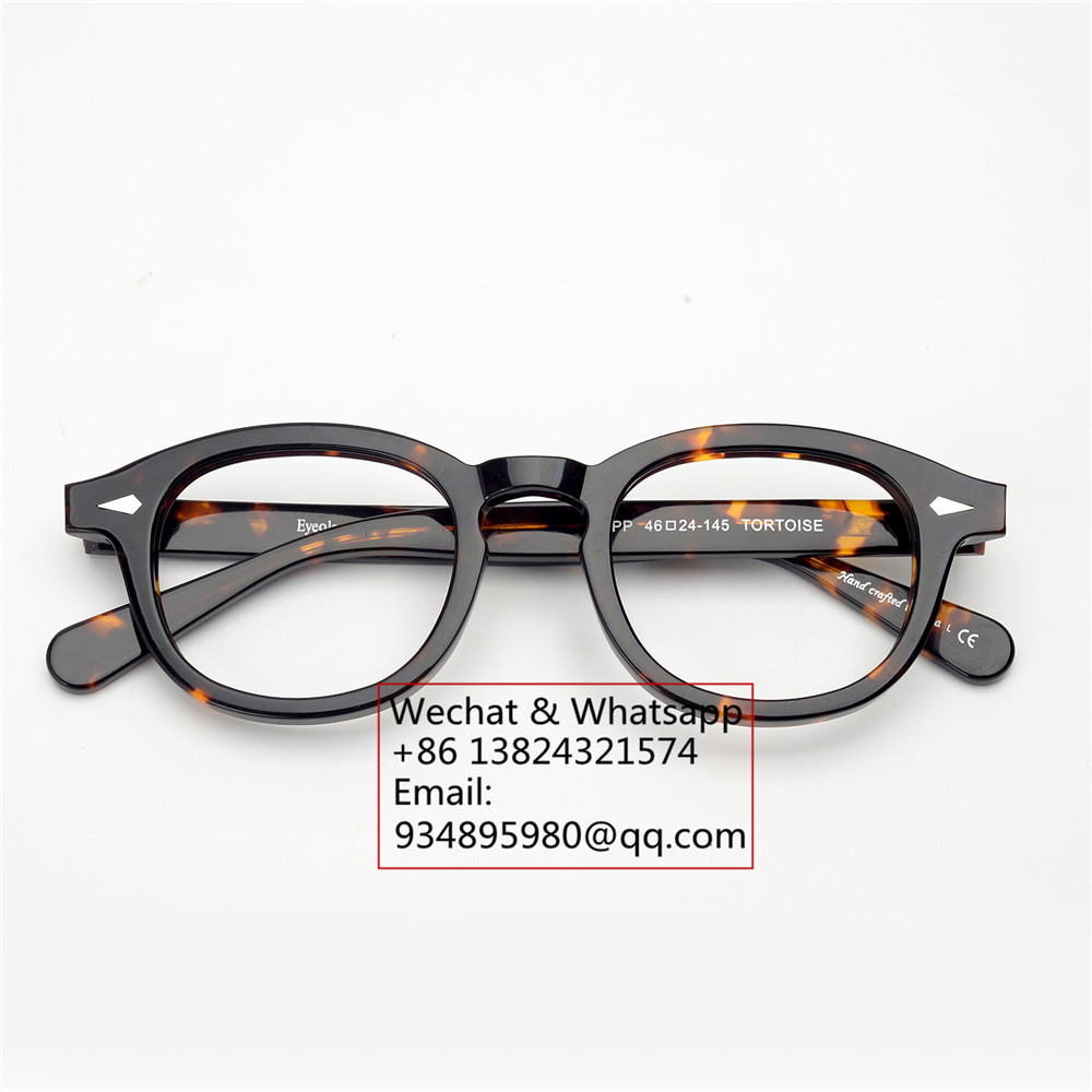 4938bba709 EyeGlow Johnny Depp lemtosh same style acetate optical eyeglasses frames men  and women retro myopia prescription Oval glasses-in Eyewear Frames from  Apparel ...