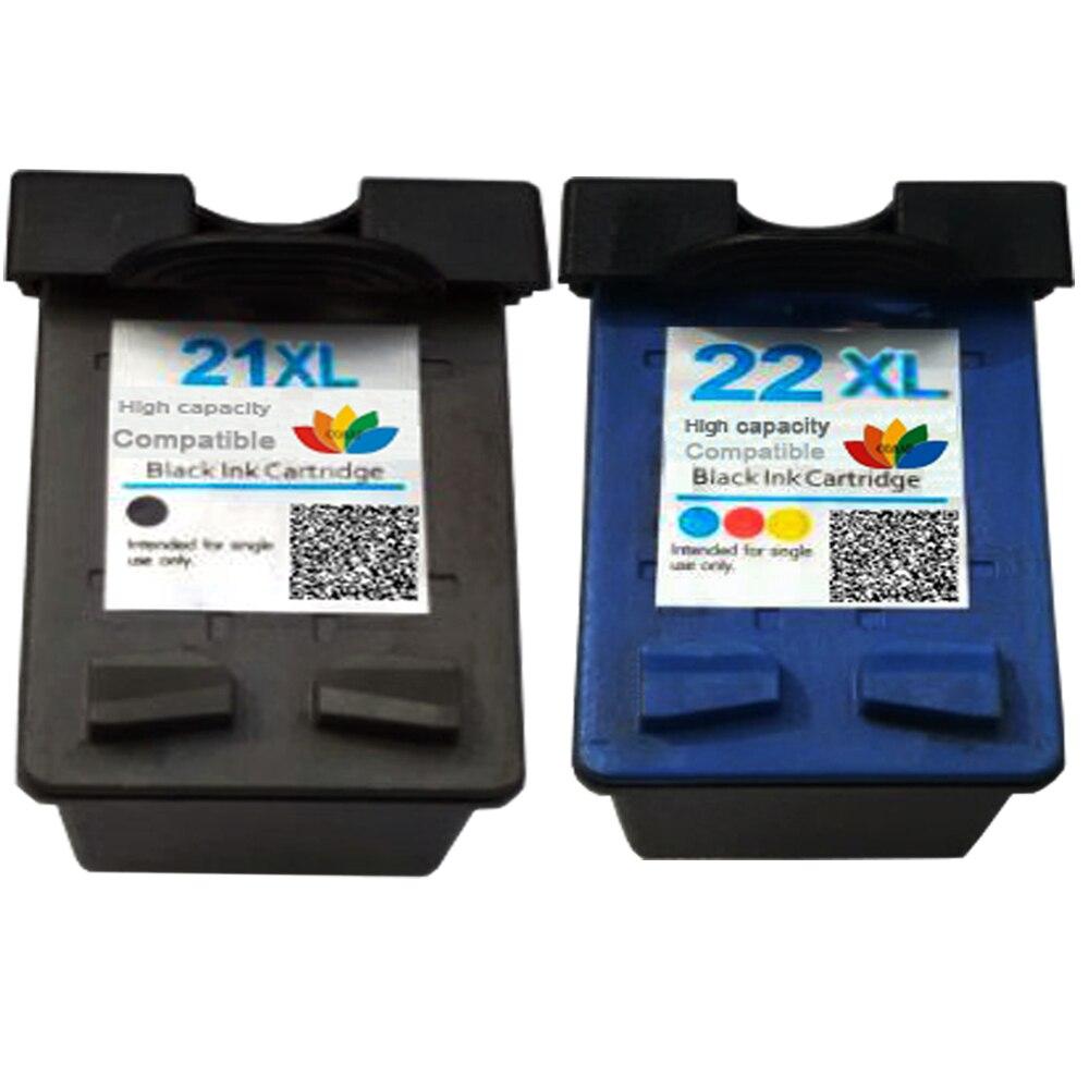 2 pièces cartouche Compatible pour hp 21 hp 21 22 XL C9351AE C9352AE hp F380 F2120 F2180 F2280 F2179 F4180 3910 hp 4311 F300, hp 1410