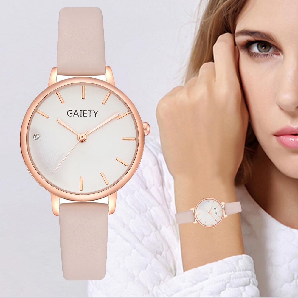GAIETY Womens Leather Wristwatch
