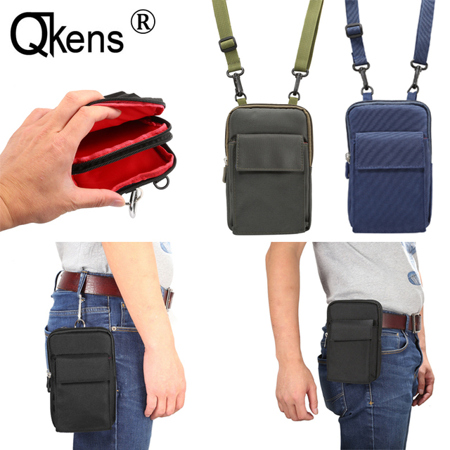 82bc68ca3b14 Men Messenger Bag Shoulder Mobile Phone Bag Man Portable Mini Small Casual  Zipper Case Travel Crossbody Bag Belt Clip Fanny Pack
