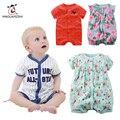 Marca del verano del Bebé Ropa de La Muchacha Niños Mono Infantil Boy Body Suit Ropa Roupas Bebes Bebé Peleles de Algodón de Manga Corta