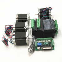 CNC Router Kit 4 Axis, 4 cái TB6600 4A stepper motor driver + 4 Nema23 motor57HS5630A4 + 5 board interface axis + cung cấp điện
