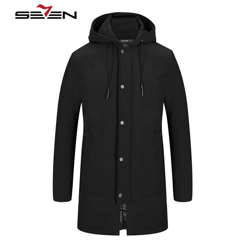 Seven7 marque blanc canard doudoune hommes hiver chaud Long manteau épais neige noir à capuche vêtements pour hommes pardessus vêtements 115K20250
