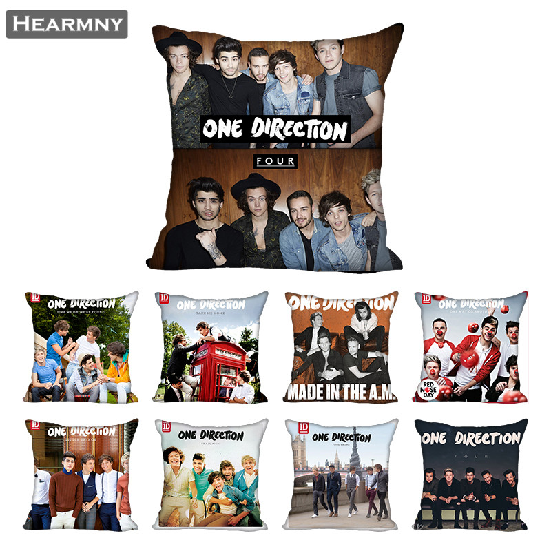 One Direction Pillow Case For Home Decorative Pillows Cover Invisible Zippered Throw PillowCases 40X40,45X45cm