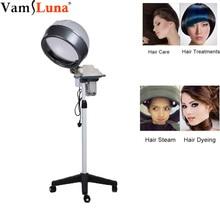 Evaporador profesional de salón de belleza con soporte de piso laminado ajustable para todo tipo de cabello, acondicionador de cabello y cuero cabelludo