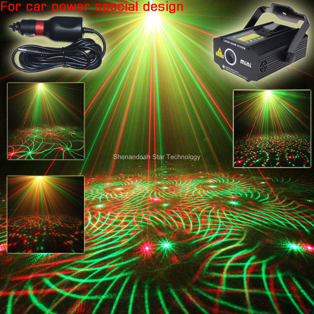 Car Adapter Plug RG Laser Whirlwind Patterns Projector Field - Car laser light show