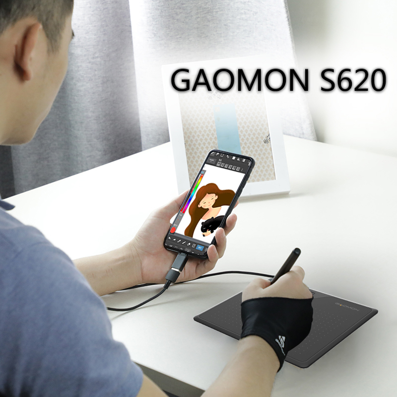 US $22 79 43% OFF|GAOMON S620 6 5 x 4 Inches 8192 Level Battery free Pen  Support Android Windows Mac OS System Digital Graphic Tablet for Drawing-in