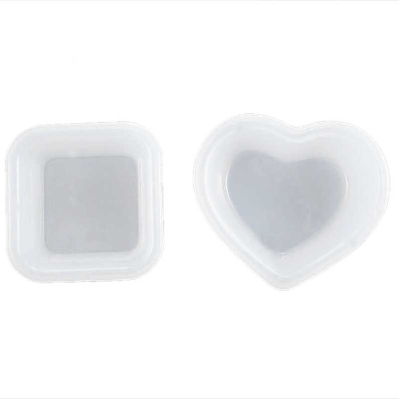 2Pc Heart Square Plate Bowl Jewelry Mold Silicone Handcrafted Jewelry Tools Accessories