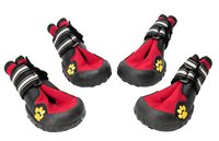 Waterproof Dog Boots Rubber Non Slip Red Dogs Walking Shoes Paw Protectors