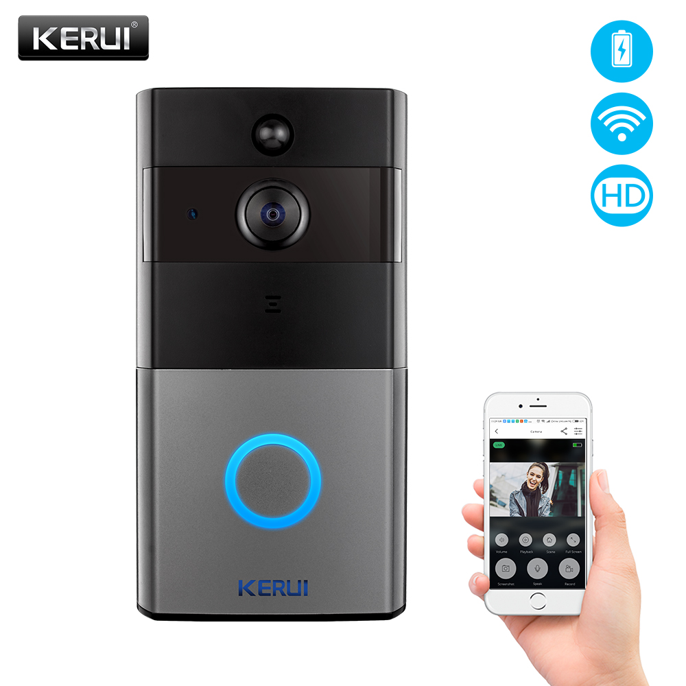 KERUI Security Video Doorbell battery Phone WiFi 2 0MP 1080P Door Bell Camera Two Way Audio