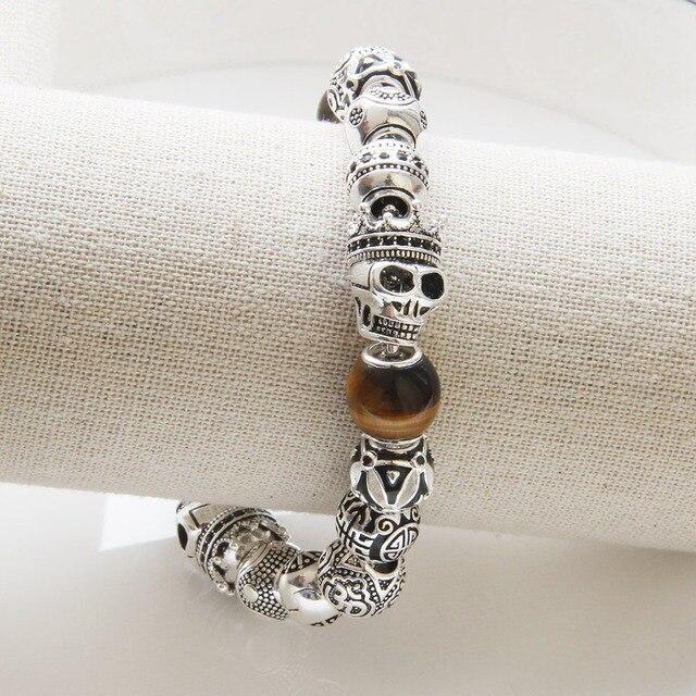 Hemiston thomas asia этно мужской браслет с тигром и черепом