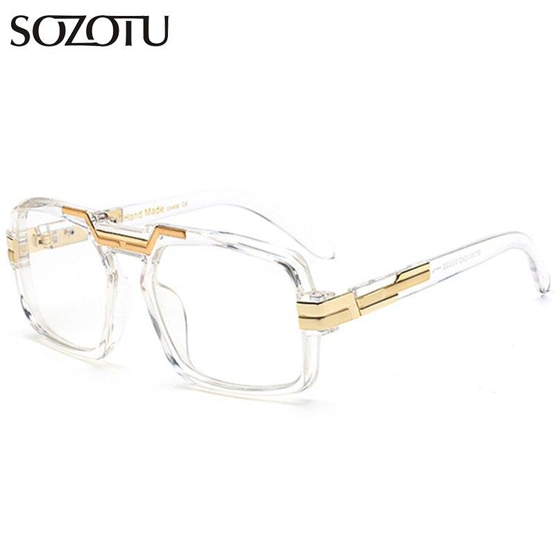 9ae38954d7931 Óculos de Armação Óculos para o para o Sexo Mulheres Homens Óculos  Computador Óptico Olho Sozotu Limpar Lens Armação de Sexo Feminino  Masculino Oculos ...
