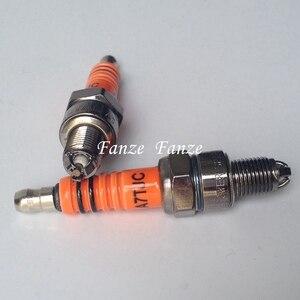 Image 5 - Bujía de motocicleta A7TJC modificación GY6 50cc 70cc 90cc 110cc 125cc ATV Dirtbike 50 125 150cc ciclomotor Scooter de tres electrodos