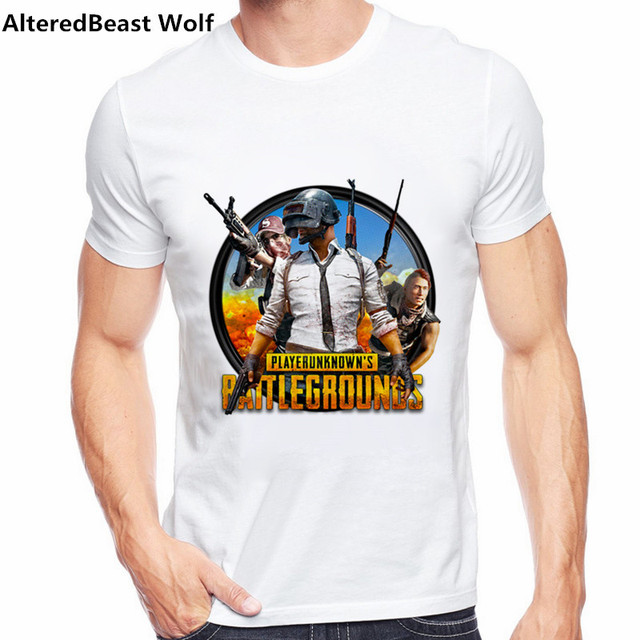 e89b557a 2018 Player Unknown's Battlegrounds T Shirt PUBG Winner Winner Chicken  Dinner Skull Helmet Design Short Sleeve Plus Size Tee
