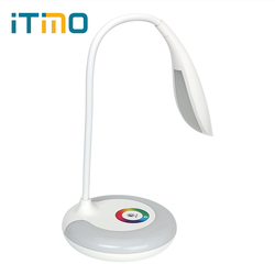 Itimo recarregável usb carregamento flexível livro luz de leitura lâmpada mesa recarregável toque luz led lâmpada de mesa pode ser escurecido