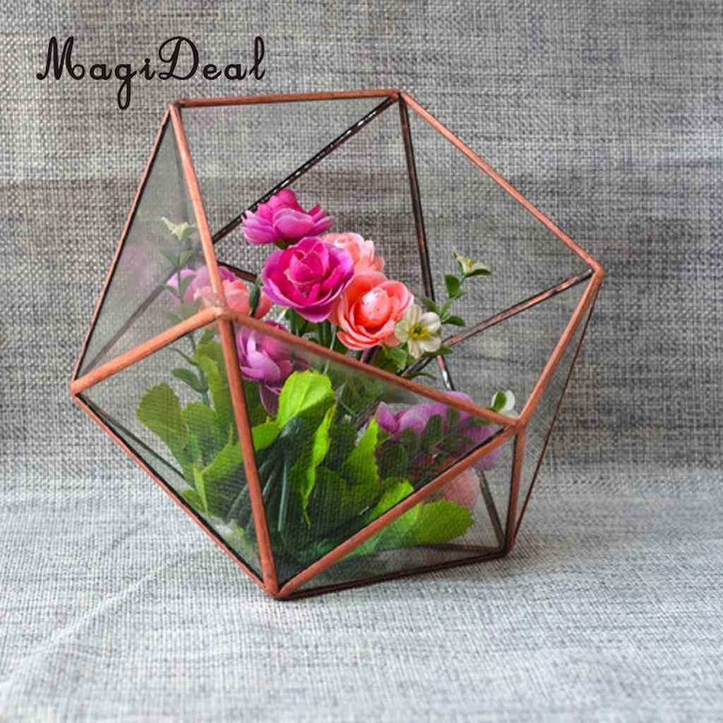 MagiDeal Artística Moderna de Vidro Transparente Caixa de Planta Plantas Suculentas Terrário Geométrica Jóias Presente Suporte de Vela Decoração de Casa