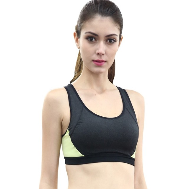 4ec36bd7 Women Padded Wirefree Fitness Sports Bra Gym Running Jogging Yoga Crop Top  Tennis Vest