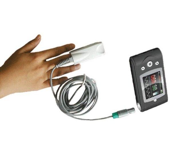 Бесплатная доставка CMS60C цифровой Портативный ручной пульсоксиметр с Программы для компьютера
