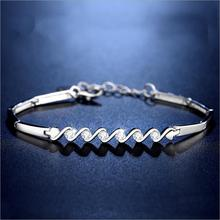 Everoyal Personality Female Silver 925 Bracelets For Women Jewelry Fashion Zircon Geometric Girls Accessories