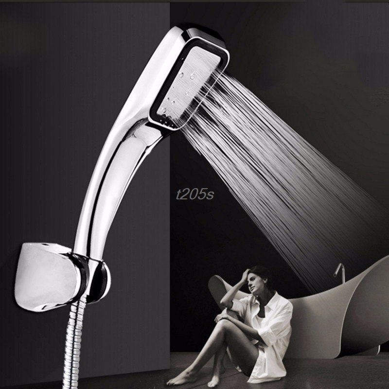300 hole Pressurized Water Saving Shower Head ABS With Chrome Plated Bathroom Hand Shower Water Booster Showerhead T18 Drop ship