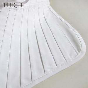 Image 3 - קפלים בסגנון בריטי עם תחרה עד צווארון דוכן אופנה נשים חולצת צווארון מזויף להסרה צווארון שקר לבנה ושחורה 2018