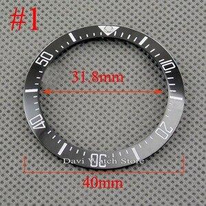 Image 2 - 40mm שחור כחול ירוק לבן קרמיקה bezel fit אוטומטי BLIGER שעון