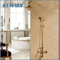KEMAIDI Shower Faucets Bathroom Shower Set Bath Rain Shower Wall Mounted Hand Held Brass Shower Head Chuveiro Do Banheiro