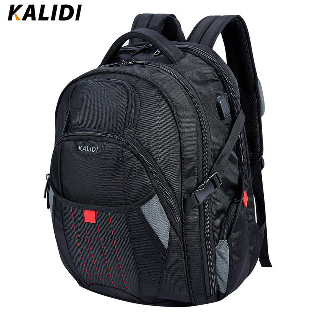 Kalidi большой рюкзак для ноутбука 18.4 17.3 дюймов путешествия моды черные мужчины рюкзак компьютерные сумки 17 18 для dell, asus, msi, hp gaming