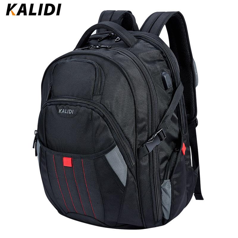 Prix pour Kalidi grand ordinateur portable sac à dos 18.4 17.3 pouce voyage mode noir hommes sac à dos sacs pour ordinateur 17 18 pour dell, asus, msi, hp gaming