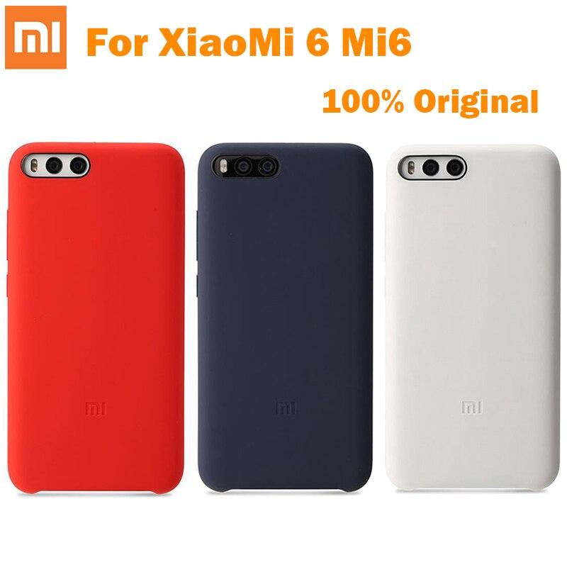 imágenes para 100% Original Xiaomi Oficial PC de Silicona caso Protector de la contraportada Para Xiaomi 6 M6 Mi6