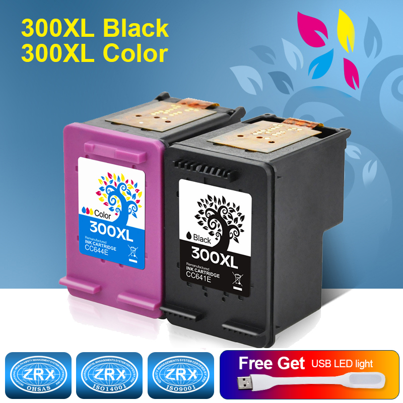 2pcs Ink Cartridge For HP 300XL HP300XL CC641EE CC644EE For HP Deskjet 2560 2660 5560 F2480