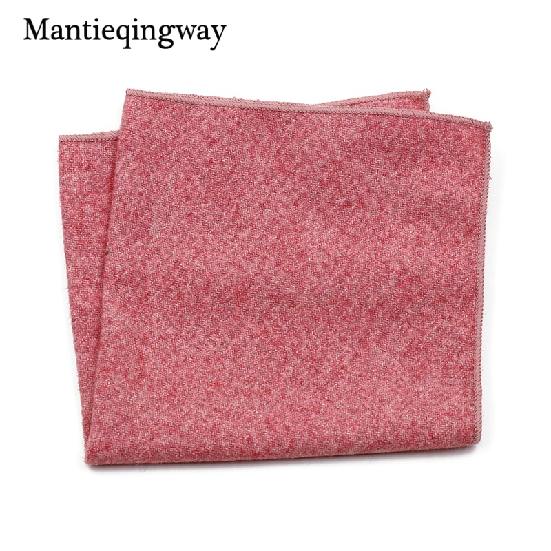 Mantieqingway Business Men's Wedding Tuxedo Wool Cotton Pocket Square Hanky For Mens Suits Handkerchief Chest Towel Formal Towel