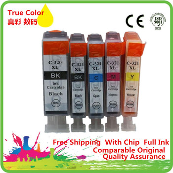 Replacement BCI 320 321 Ink Cartridge For Canon IP3600 IP4600 IP4700 MX860 MX870 MP550 MP560 MP620 MP620B MP630 MP640 image