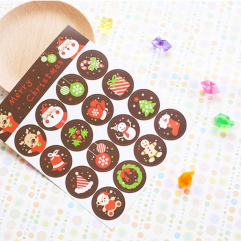 160pcs/lot Kawaii Merry  Christmas Seal Sticker Decorative For Christmas Gifts DIY Stickers Label Adhesive Sealing