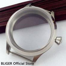 Полированный 45 мм Нержавеющая сталь часы с сапфировым стеклом чехол подходит для приблизительный срок поставки: 6497 6498 ручной завод OK30
