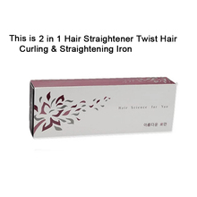 CHJ Профессиональный Выпрямитель для волос 2 в 1 для завивки волос и выпрямления волос железа бигуди мокрой и сухой Flat Iron Hair Styler