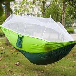 Przenośne 1 2 osoby moskitiera błąd hamak wiszące łóżko do spania huśtawka hamak na zewnątrz Camping podróży połowów podróży plaża w Hamaki od Meble na