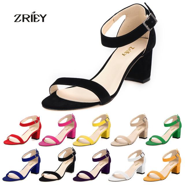 Moda com Tira No Tornozelo Sapatos de Camurça Meados sapatos de Salto Alto Mulher Sapatos de Bico Aberto Sandálias Sexy De Salto Alto Sandálias Das Senhoras Bombas