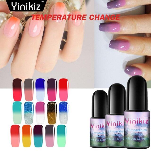Yinikiz Thermo Nail Gel Polish Temperature Change Color UV Long ...