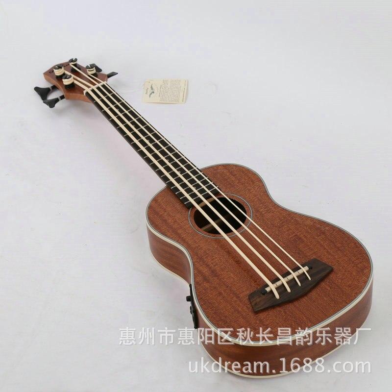 30 pouces uku Mini guitare électrique ukulélé 4 cordes basse Instruments de musique plein Sapele rétro bouton fermé Guitarra vente en gros - 6
