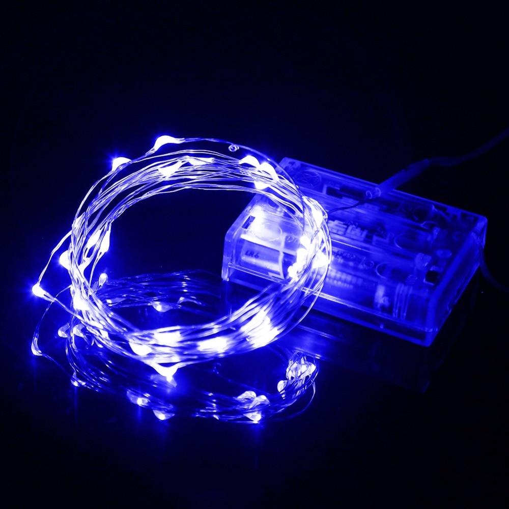 5M 50leds Светодиоды светодиод Silver Wire DC4.5V - Мерекелік жарықтандыру - фото 5