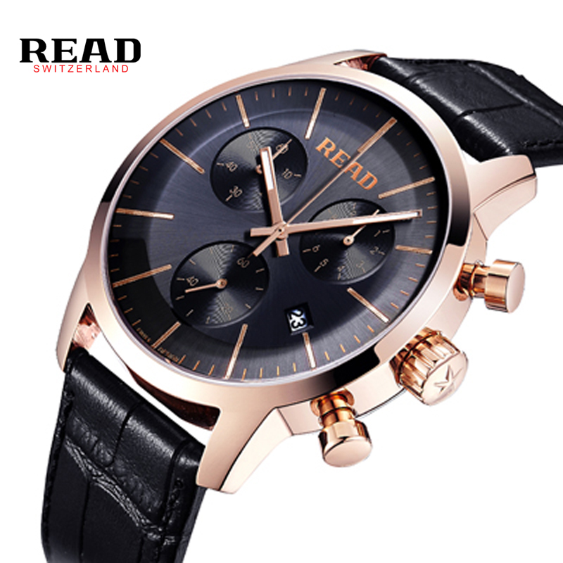 2017 New READ Brand Male Watches Casual Fashion Watch Quartz Watches Men Military Business Sports Watches Dress Clock relogio new listing yazole men watch luxury brand watches quartz clock fashion leather belts watch cheap sports wristwatch relogio male