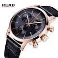 2017 Nueva LEER Marca Masculino Relojes Moda Casual Reloj de Cuarzo Relojes Hombres Militares Relojes De Deportes Vestido Reloj relogio