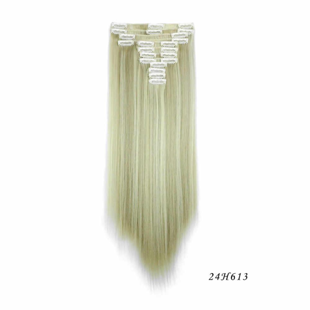 12 шт парик напрямую от производителя оптом 12 раз прямые волосы для наращивания кусок клип парик для волос в европейском и американском стиле