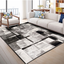 Nordic Style Geometric Pattern Carpet Large Size Living Room Bedroom Tea Table Rugs and Carpets Rectangular Antiskid Floor Mats