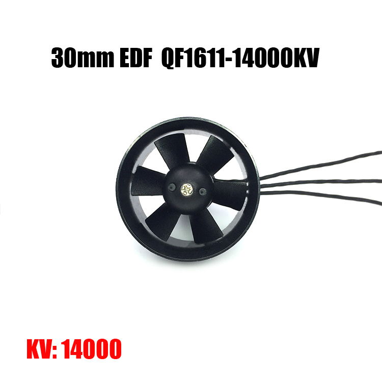 30mm EDF Ducted Fan Set 6 Blades Electric EDF with <font><b>2s</b></font> <font><b>Motor</b></font> QF1611 7000KV / 14000KV Brushless Outrunner <font><b>Motor</b></font> for AirPlane image