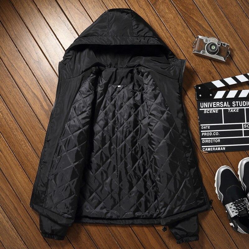 Winter Jacket Men Women Thick Warm Cotton-padded Casual Hooded Collar Fashion Winter Coat Men   Parka   Outerwear S-7XL